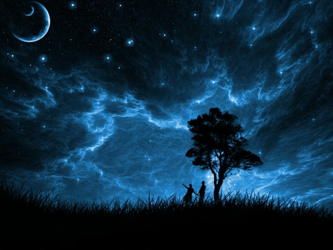 trees stars figure planets fields blue sky 1024x768 wallpaper_www.wallpaperto.com_56