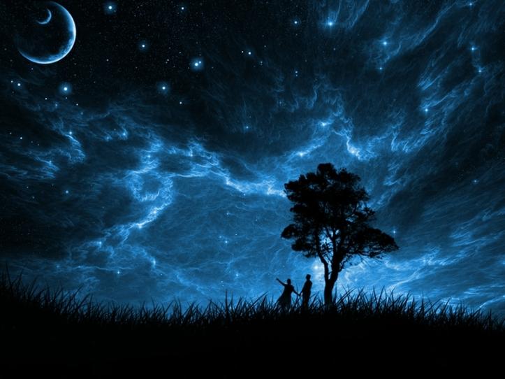 trees stars figure planets fields blue sky 1024x768 wallpaper_www.wallpaperto.com_56