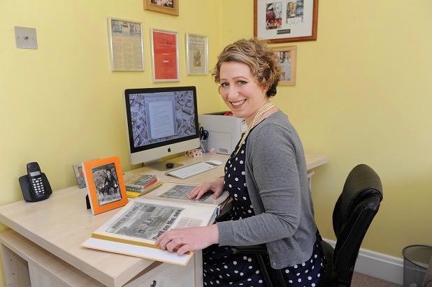 Louise Beech at work